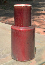 Qing Dynasty Chinese Sang De Boeuf Oxblood Vase, Pigeon, Langyao, Rouleau