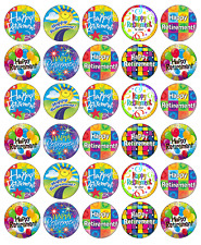 30x Happy Retirement Cupcake Toppers Edible Wafer Paper Fairy Cake Toppers