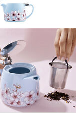 ALFRED 20 oz Ceramic & Stainless Steel Teapot Blue, Pink, White &  Floral