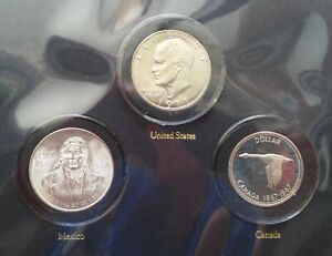 HARCO COIN ALBUM FOR NORTH AMERICAN DOLLARS - INCLUDES THE COINS!