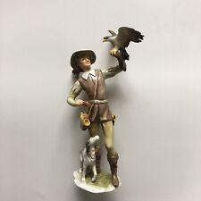 Alka Kunst Bavaria Germany #421 Figurine Dog And Falcon