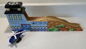 Wooden Train Track Set Helipad Tunnel And Bridge With Sounds Brio Thomas Etc
