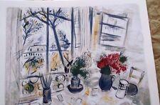 """Marc Chagall """" FLEUR DU PARC"""" Facsimile Signed Limited Edition Lithograph"""