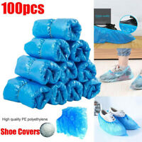 100Pcs Disposable Anti Slip Boot Shoe Covers Overshoes Protective Waterproof US
