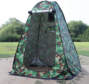 Wowcase 1-2 Person Large Space Pop Up Shower Privacy Shelter Tent With 3 Windows