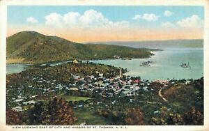 Virgin Islands View Looking East of City And Harbor St. Thomas 06.45