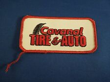 Cavanal Tire & Auto Uniform Advertising Cars Embroidered Iron On Patch