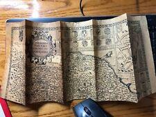 Vintage Reproduction Parchment Map - N&E Riding Of Yorkshire 1610
