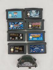 Nintendo Gameboy Advance Games X 8 + Wireless adapter untested