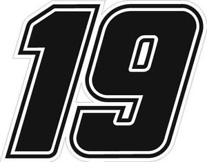 NEW FOR 2020 - #19 Martin Truex Racing Sticker Decal - SM thru XL -Various color