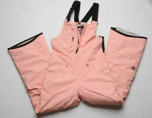 686 Girls Sierra Bib Snowboard Pant (S) Coral Pink M0W802-CORL