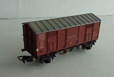 POCHER Wagon couvert 310/3 avec feu de fin convoi FS Ech Ho EXCELLENT ETAT