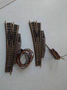 2x FLEISCHMANN 9172 N-GAUGE LEFT HAND ELECTRIC POINTS