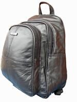 Small Soft Leather Backpack Rucksack HandBag Black Premium Leather Handbags 8591