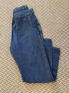 Vintage Chic Jeans 80's Sz 10 (28 x 29) Average Blue Denim High Waist  Peg Leg