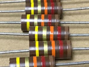 (1 PC)  AB  RCR42G123JS  Resistor Carb Comp 2W 12K OHM 5% S-Level