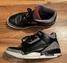 Used Air Jordan 3 Retro Black Cement Size 10 2011