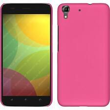 Hardcase für Huawei Honor 4A Hülle pink gummiert + 2 Schutzfolien