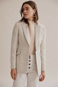 Country Road Darted Organically Grown Linen Blazer 14
