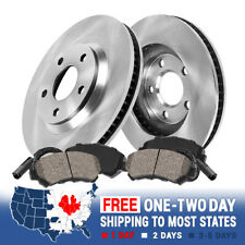 Front OE Brake Rotors And Ceramic Pads For VW Volkswagen Jetta Rabbit Audi A3
