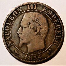 5 centimes Napoléon III 1854 B