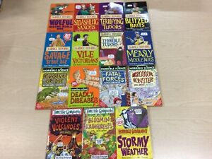 15 x Horrible Histories, Science, Geography Paperback Book Bundle By Terry Deary