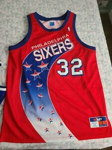 Philadelphia 76ers Sixers Charles Barkley Authentic Shooting Stars Jersey USA 52