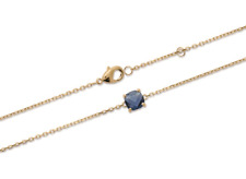 Bracelet Crystal Set 4 Claws Blue Sapphire Gold Plated 18 Carat