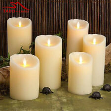 LED WHITE WAX LIKE CHURCH CANDLES 3 SIZES WEDDING EVENTS HOME DECOR