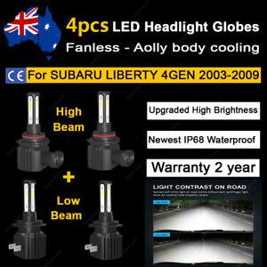 For Subaru Liberty 2003-2009 Headlight Globes High Low Beam LED Bulb lamp Kit A2