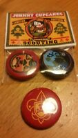 Lot 3 BOY Scouts Event Novelty LE PINs Lapel Pinback Johnny Cupcakes Button BSA