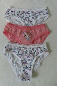 Drei Mädchen Slips, Hello Kitty  Gr. 98-104