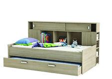 Funktionsbett mit Gästeliege Jugendbett Regalwand Kinderbett Kinderzimmer Eiche