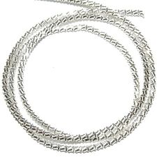 "WC348f French Wire Silver-Finish Zig-Zag 1mm Bullion Jewelry Component 13""/pkg"