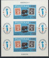 "PHILIPPINES:1977 ""Espamer77"" Stamp Exhibition M/sheet IMPERFORATE SG 1444 MNH"