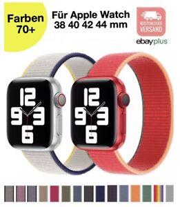 ✅ Für Apple Watch Armband Nylon Loop iWatch Series 6/5/4/3/2/SE 38 40 42 44 mm ✅