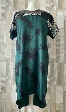 River Island Green Floral Ethnic Beaded Dress Boho Style Size 12
