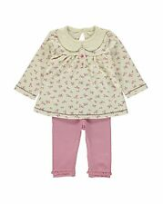 England George Baby Mädchen Florales Set Kombination Leggings Tunika Gr.50-56