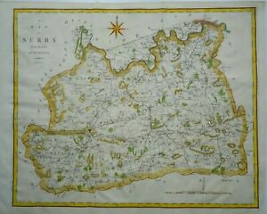 Antique Map of Surrey by John Cary 1789