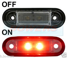 12V/24V FLUSH FIT RED REAR LED MARKER LAMP / LIGHT TRUCK VAN CAR KELSA BAR RDX