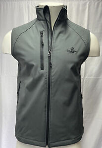 Men's Size XXL Golf Showerproof Softshell Gilet Jacket Grey Brand New With Logo