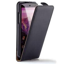 POCHETTE façon CUIR HOUSSE ETUI FLIP CASE NOIR Pr Google Nexus 5 LG D820 / D821
