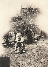 Vintage Real Photo- Antique Tricycle- Baby- Small Child- 1900s-10s