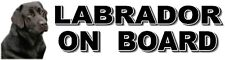 LABRADOR ON BOARD Dog Car Sticker By Starprint ft. Black Labrador Retriever