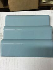 1 New Old Stock Vintage 50's Regency Blue Bullnose Tile American Olean Retro 6""