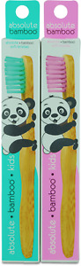 ABSOLUTE BAMBOO KIDS TOOTHBRUSH WITH SOFT BRISTLES NATURAL SUSTAINABLE ECO