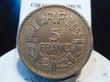 BOIS10(52) - 5 FRANCS - LAVRILLIER - Br/ALU - 1945 C - RECHERCHEE & QUALITE TB+