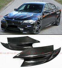 2 PIECE R STYLE CARBON FIBER FRONT BUMPER SPLITTERS LIP FOR 2012-2016 BMW F10 M5