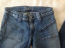MARCIANO Jeans size 24 stretch medium wash, low rise, flare
