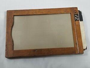 "Kodak 3A Premo 3 1/4 x 5 1/2"" Glass Plate Wood Film Holder *** See & Read ***"